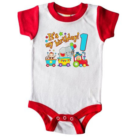 It's my Birthday- circus train 1st Birthday Infant (Message For My Baby Girl 1st Birthday)