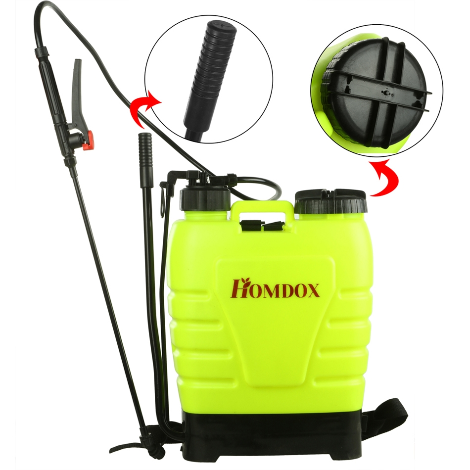 New Portable Pressure Sprayer Knapsack 16L Garden Yard Weed Chemical SMT by