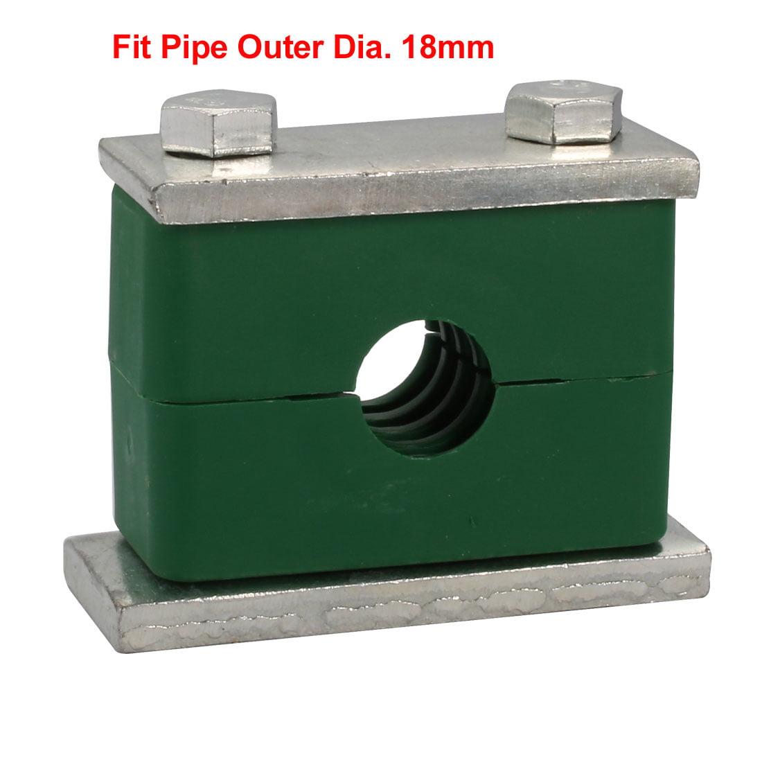 18mm Fitting Dia Polypropylene Aluminum Heavy Series Hose Pipe Tube Clamp 2pcs - image 1 of 4