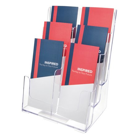 Deflecto Multi Compartment Docuholder  Six Compartments  9 5 8W X 6 1 4D X 12 5 8H  Clear
