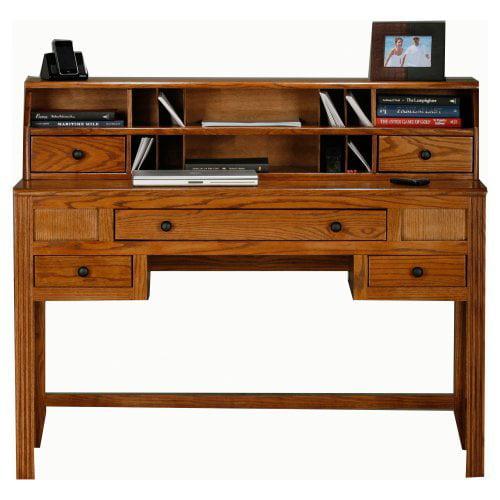 Eagle Furniture Oak Ridge Customizable Writing Desk with Optional Hutch