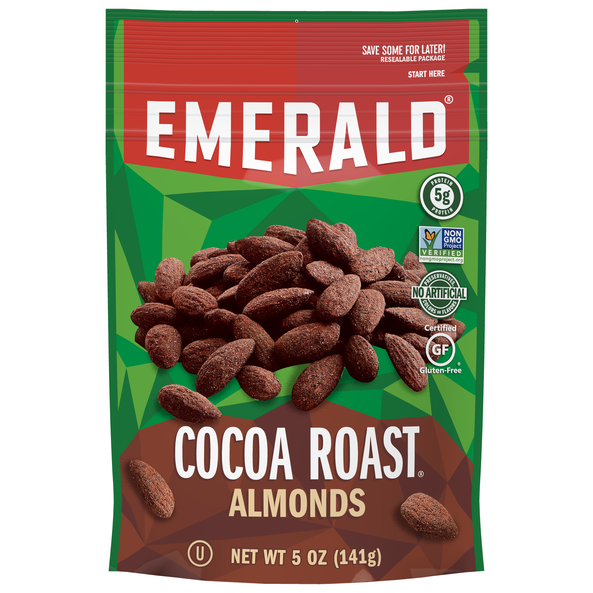 Emerald Nuts, Cocoa Roast Almonds, 5 Oz
