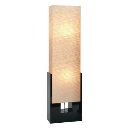 Decmode Modern 48 Inch Wooden Luminaire Floor Lamp  Beige