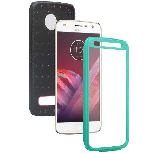 Moto Z2 Play Case, Moto Z2 Force Case, Heavy Duty Swivel Locking Belt Clip Holster, [Built In Screen Protector] Full Body Coverage Rugged Protection For Moto Z2 Play / Moto Z2 Force - Teal - image 3 de 4