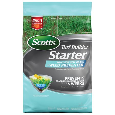Scotts Turf Builder Starter Food for New Grass Plus Weed Preventer - 5,000 sq