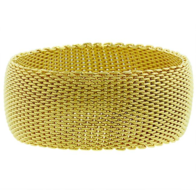 Kate Bissett BC00015G-V00 18k Gold Plated Wide Mesh Bracelet in Goldtone