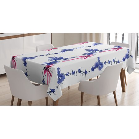 Sensational Traditional House Decor Tablecloth Irises In Watercolor In Native Asian Effects Blossoms Spring Eastern Rectangular Table Cover For Dining Room Download Free Architecture Designs Ferenbritishbridgeorg
