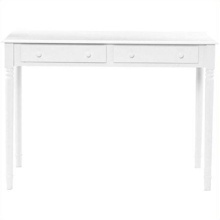 Southern Enterprises Wood Writing Computer Desk in Crisp White - image 7 de 9