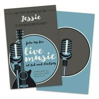 Personalized Live Music Bachelorette Party Invitations