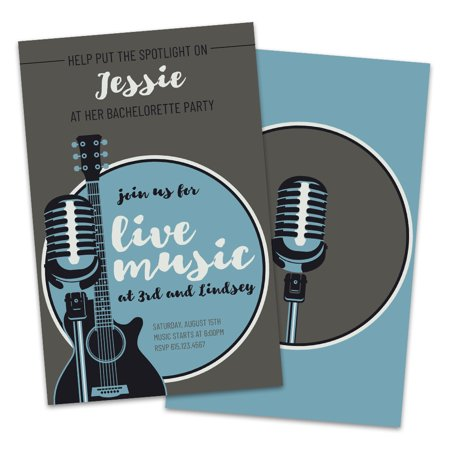 Personalized Live Music Bachelorette Party Invitations - Personalized Party Invitations