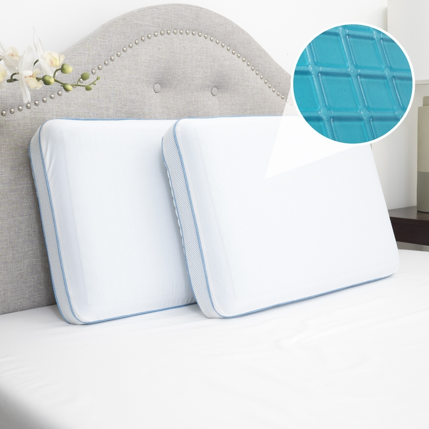 Sweet Home Collection  Cool Gel Memory Foam Bed Pillow- 2 Pack
