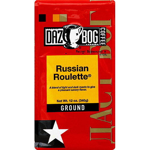 DAZBOG Coffee Russian Roulette Ground Coffee, 12 oz, (Pack of 6)