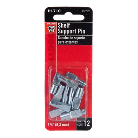 Bulldog 1 4 Shelf Support Pin 12 Pack