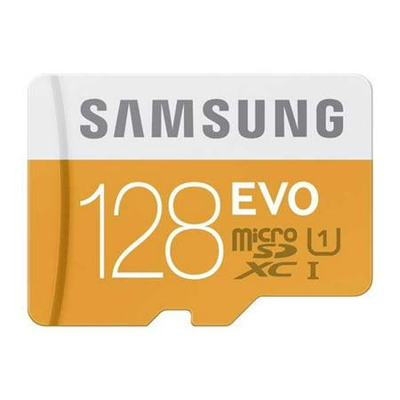 Samsung Evo 128GB High Speed Micro-SDXC MicroSD Memory Card Compatible With Samsung Galaxy Tab A 10.1 Sky J7 Sky Pro J3 (2018) A6 - ZTE ZMax Champ, Warp 7, Tempo X, Prestige 2 (N9136) (Sdxc Evo)