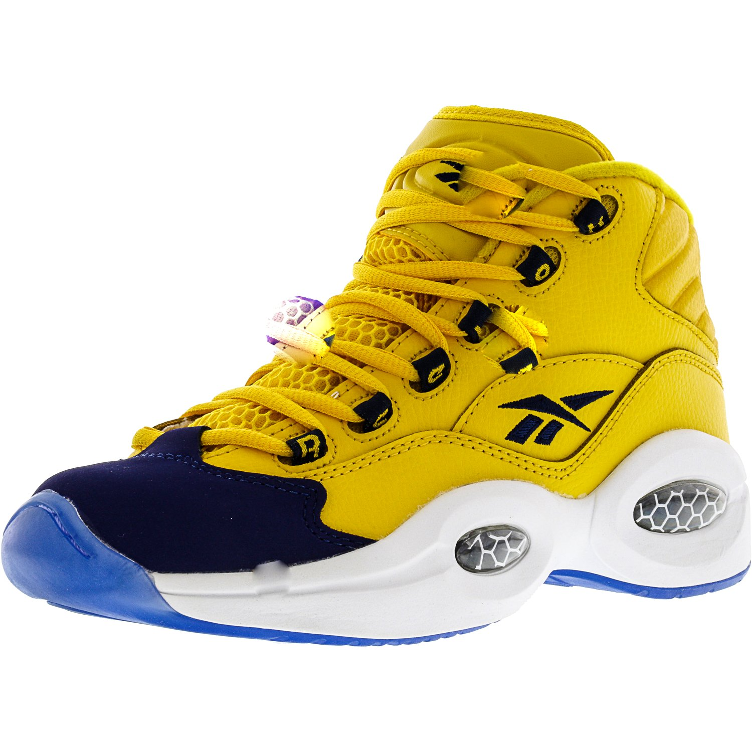 775cec70525 Reebok - Reebok Boy s Question Mid White   Pearlized Red High-Top  Basketball Shoe - 4M - Walmart.com