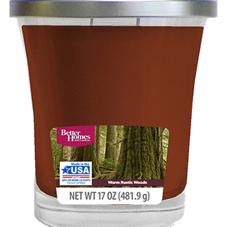 Better Homes & Gardens Warm Rustic Woods Candle, 17 - Household Utility Candles