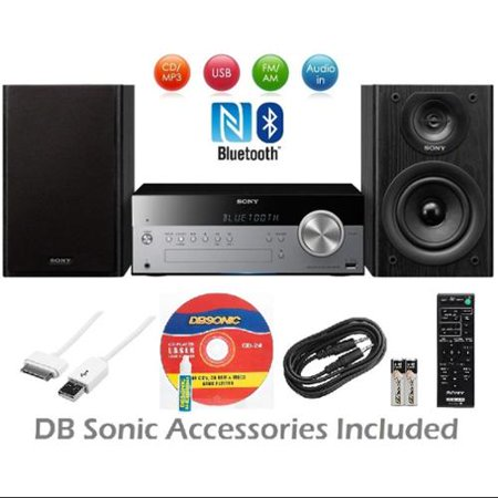 Sony Micro Home Audio System w/Wireless NFC Bluetooth, MP3 CD Player, AM/FM Radio, 30 Presets, Play & Sleep Timer, AUX Input & Wireless Remote Control