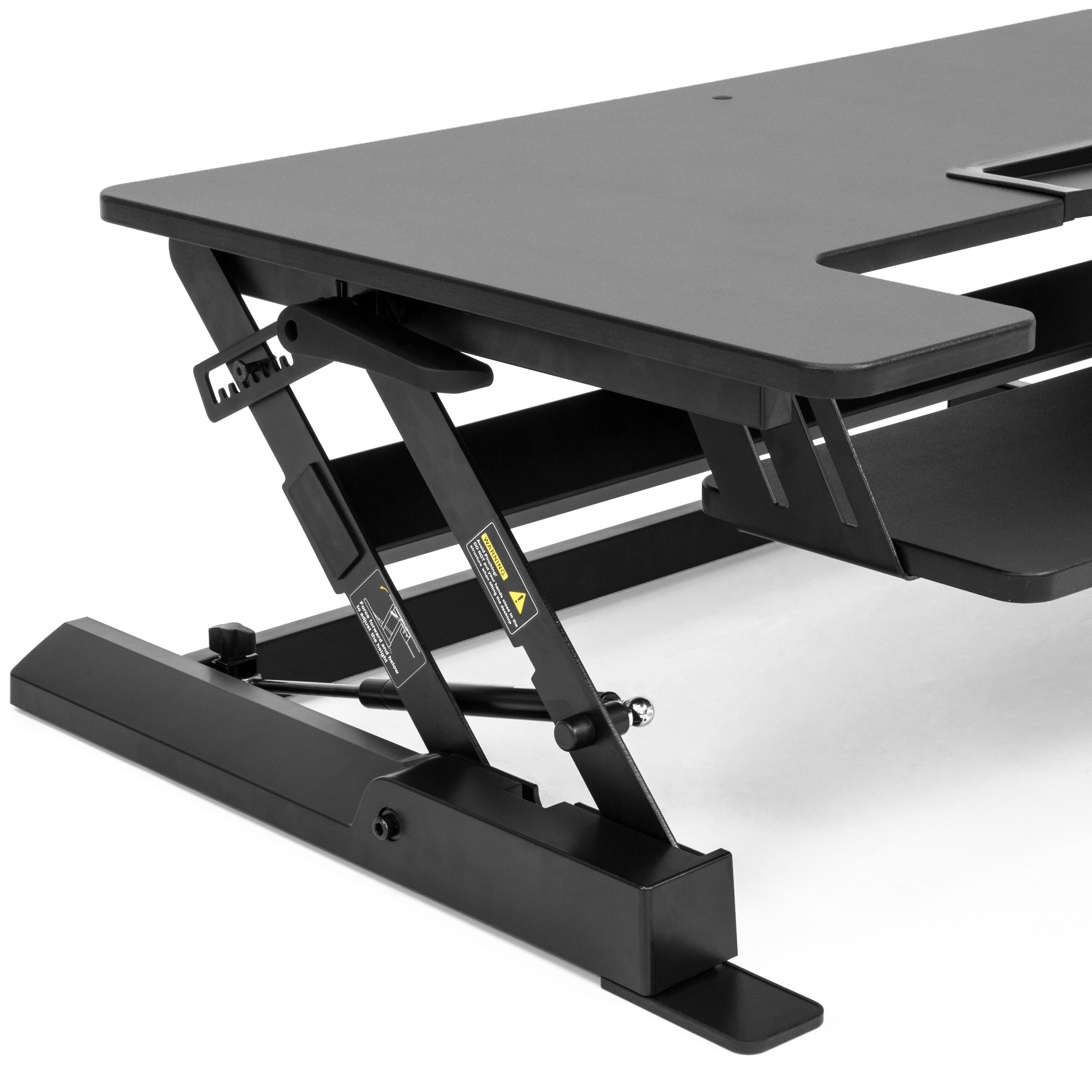 Height Adjustable Standing Desk Dual Monitor Riser Sit