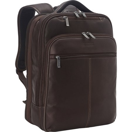 Kenneth Cole Back-stage Access Leather Laptop Backpack in Brown