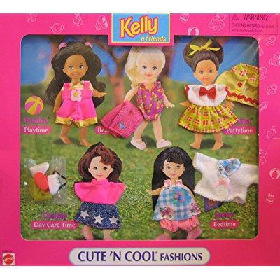 barbie kelly 'n friends cute 'n cool fashions easy to dre...