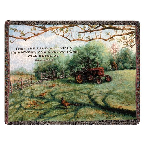 Manual Woodworkers & Weavers Pheasant Day Tapestry Cotton Throw