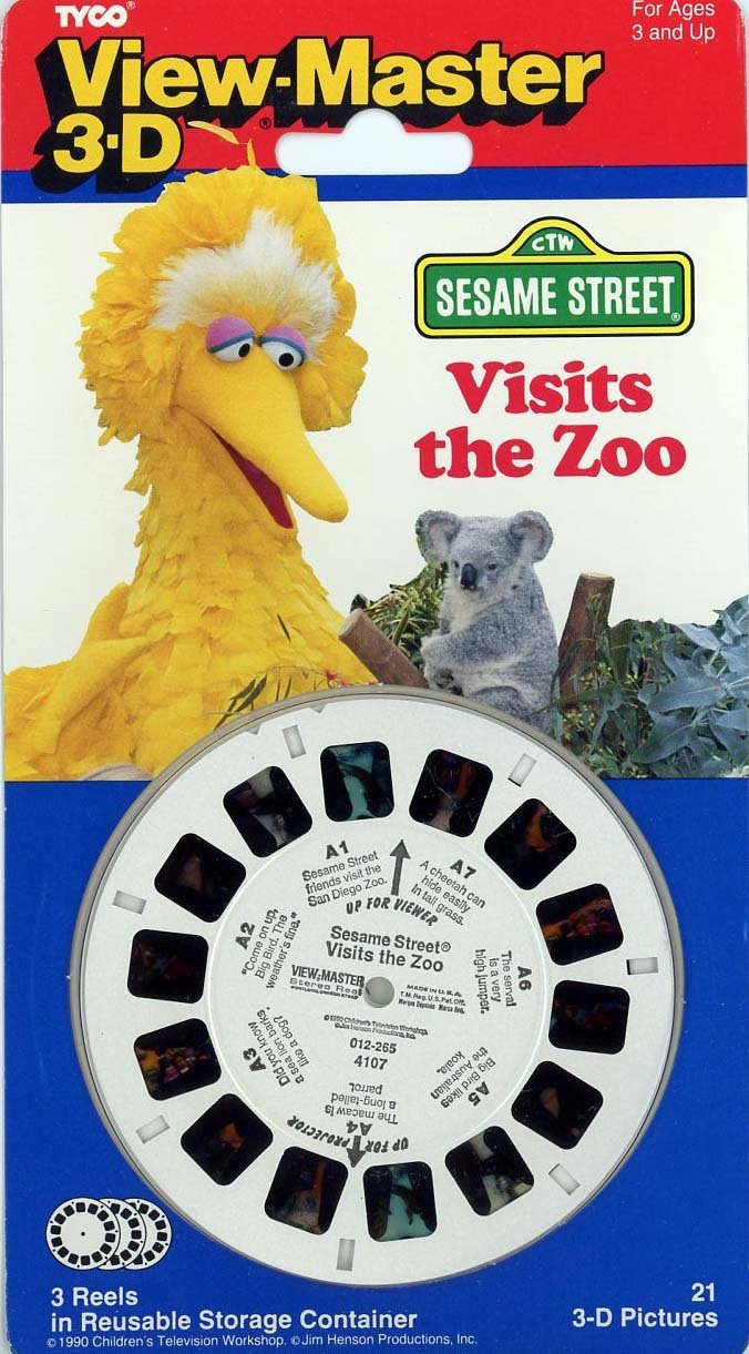 View-Master Classic 3Reel Set Sesame Street Visits the Zoo By View Master by