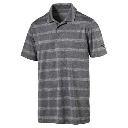 Puma Pounce Stripe Cresting Polo Mens Golf Shirt   New 2017