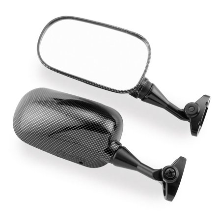 "BikeMaster Replacement Mirror Carbon Fiber ""LOOK"" Left Mirror FH-232-1 LH"