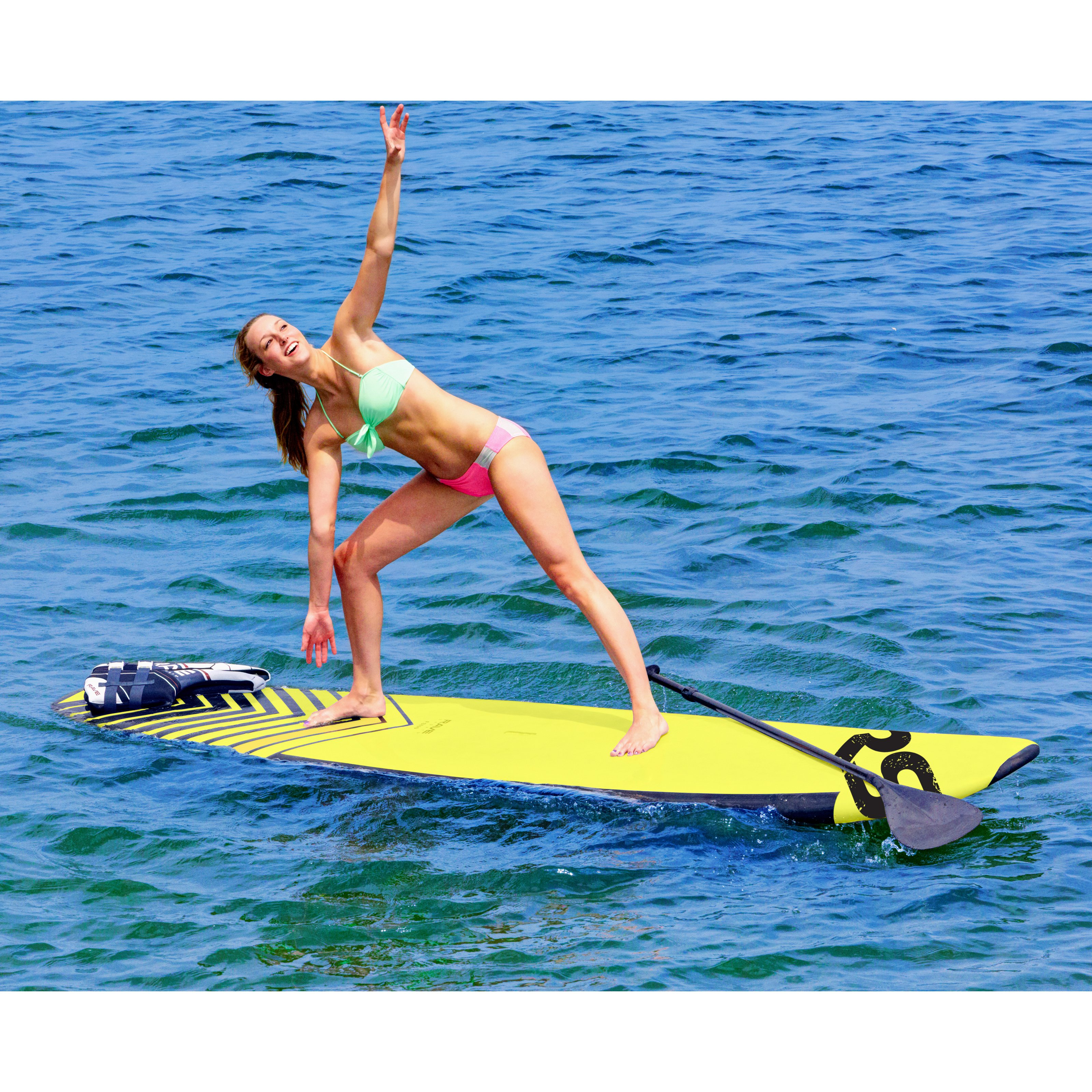 Rave Sports Soft Top SUP FS110 Stand Up Paddle Board by Rave Sports