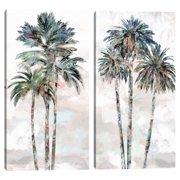 Rainbow Palms I & II by Studio Arts Set of 2 Canvas Prints