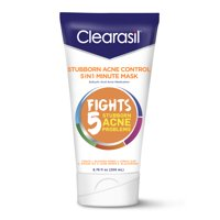 Clearasil Stubborn Acne Control 5in1 One Minute Face Mask, 6.78oz