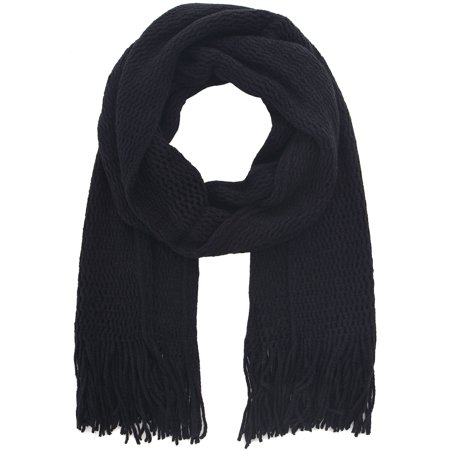 2 Toned Knit Scarf /Convertible/Combo Design, 100% Acrylic, -