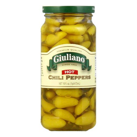 Giuliano Hot Chili Peppers, 16 Oz (Pack of 6)