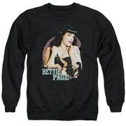 Bettie Page Good Vs Bad Mens Crewneck Sweatshirt