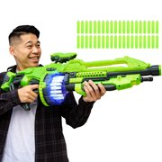 Best Choice Products Kids XL Foam Dart Alien Blaster Gun Toy w/ 40 Glow-in-the-Dark Darts, Green