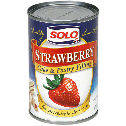 Solo Strawberry Cake & Pastry Filling, 12 oz (Pack of 12)