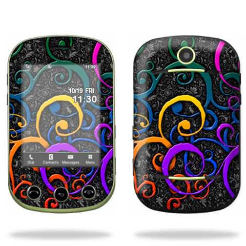 Mightyskins Protective Skin Decal Cover for Pantech Pursuit II 2 Cell Phone wrap sticker skins Color Swirls