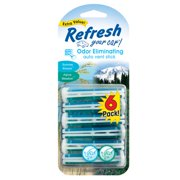 Refresh Your Car Vent Stick, Alpine Meadow/Summer Breeze, 6pk