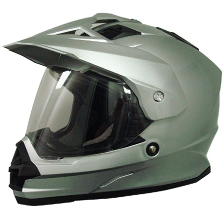 AFX FX-39DS Dual Sport Solid Full-face Helmet Silver