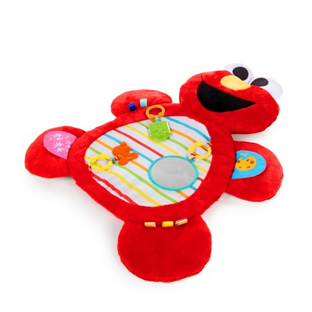 Bright Starts Sesame Street Tummy Time Prop & Play Activity Mat - Elmo, Ages 0-12 months Tummy Time Activity Mat