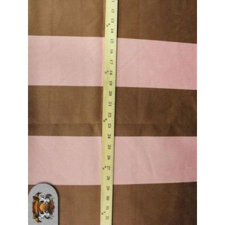 STRIPE SUEDE PINK AND BROWN 60