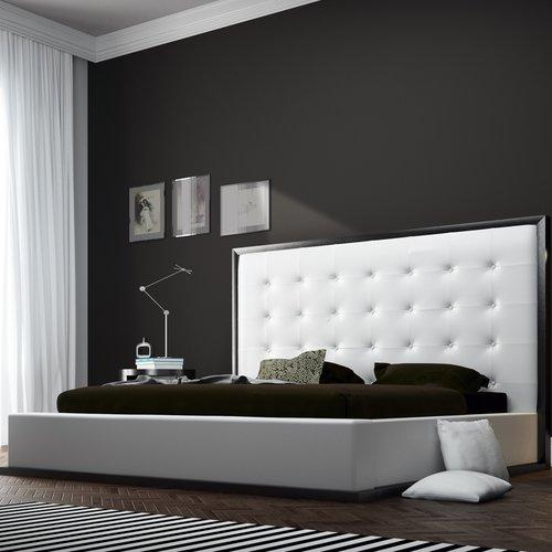 Modloft Ludlow Upholstered Platform Bed Walmart