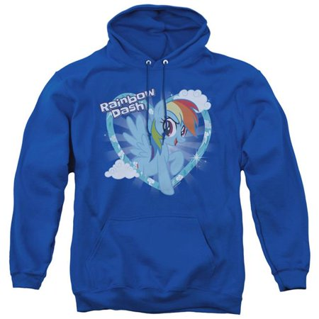 Trevco Sportswear HBRO185-AFTH-3 My Little Pony TV & Rainbow Dash-Adult Pull-Over Hoodie, Royal Blue - Large - image 1 of 1
