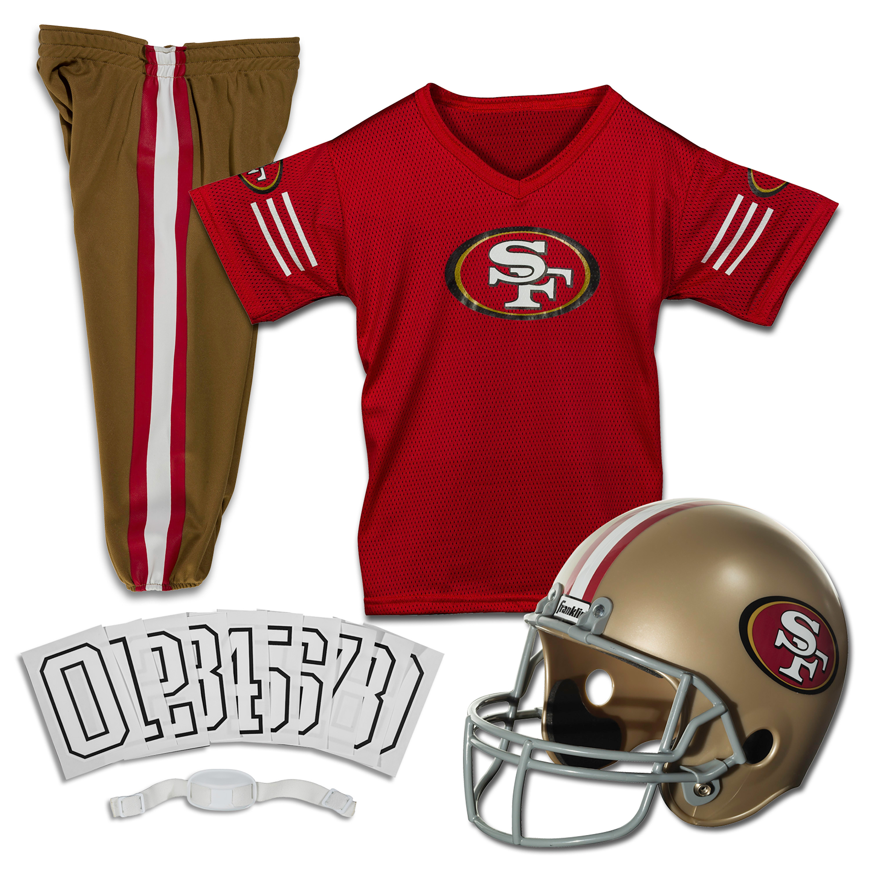 Franklin Sports NFL San Francisco 49ers Deluxe Uniform Set, Medium