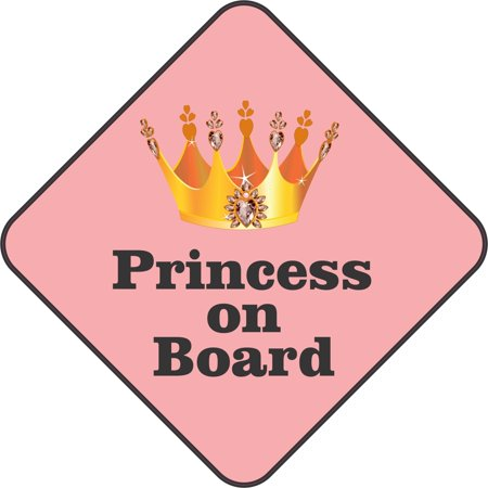 5inx5in princess on board bumper sticker decal car window stickers decals