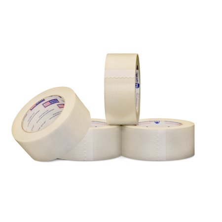 1/2 in x 60 yds, Intertape Brand Filament Tape, Economy Grade, 3.9 Mil 144 Rolls