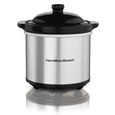 Hamilton Beach 16 Ounce Ceramic Party Dip Food Warmer, Brushed Stainless | 33101 (Party Warmers)