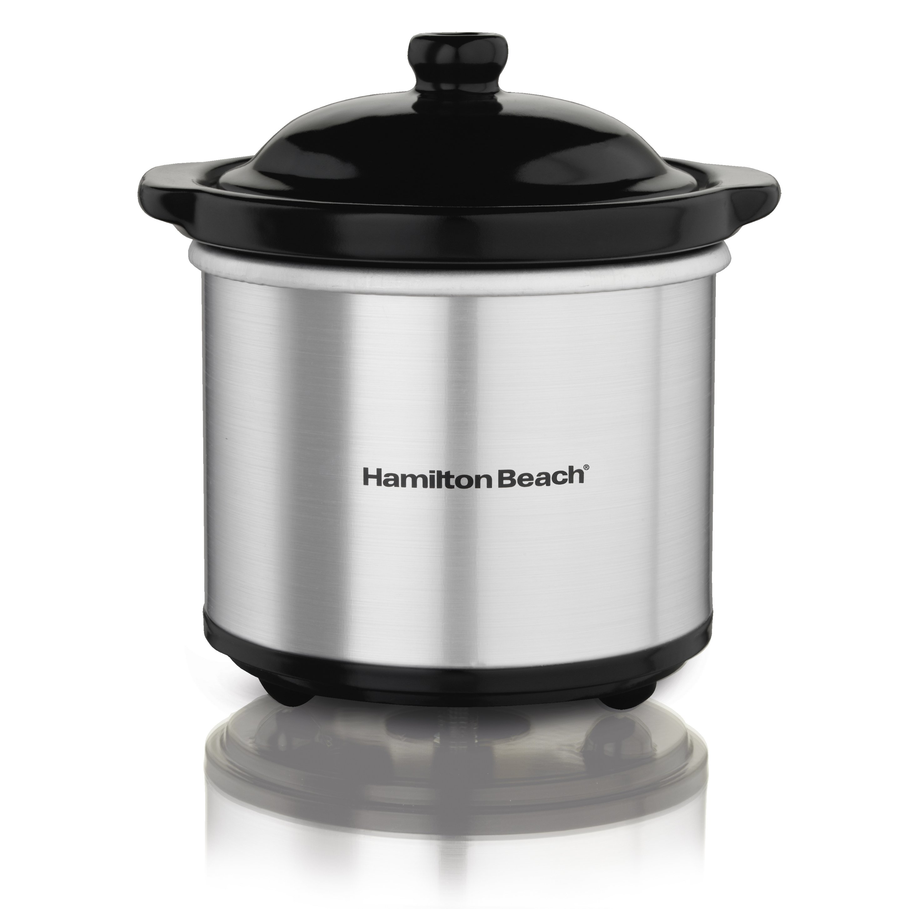 Hamilton Beach 16 Ounce Ceramic Party Dip Food Warmer, Brushed Stainless | 33101