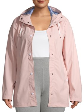 Big Chill Women's Plus Size Slicker Rain Coat