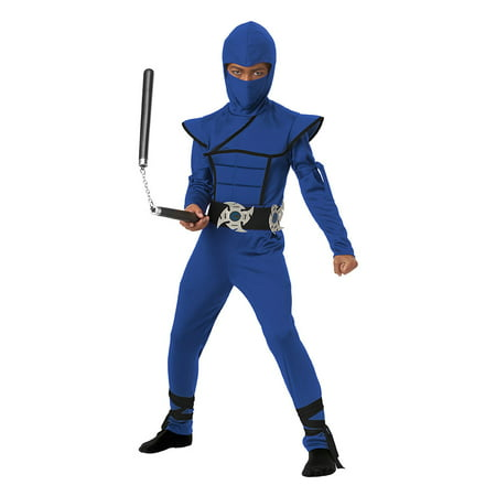 Boys Blue Stealth Ninja Halloween Costume](Ninja Costume Makeup)